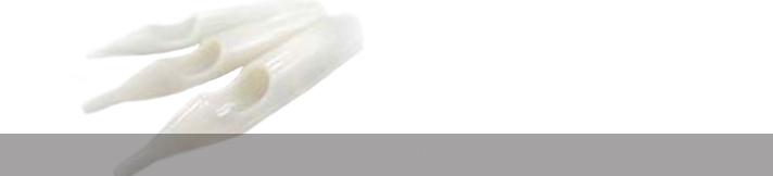 Powerline Weiße Kunststoff Spitzen
