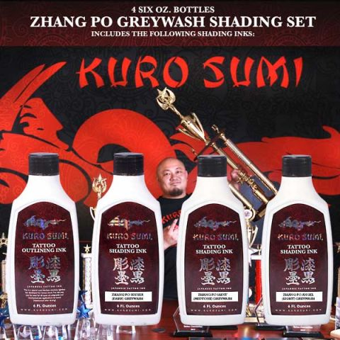 Kuro Sumi 180ml/6oz Zhang Po Shading Set