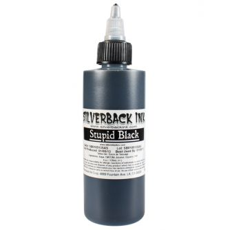Silverback Ink ®  Stupid Black 125ml