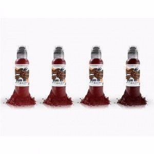Joel's Bloodworks 4 Bottle Set World Famous Ink - 1oz
