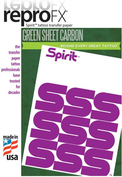 "Spirit Green 11"" Carbon Paper (25s)"