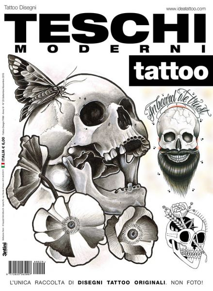 Contemporary Skulls Tattoo Flash Book