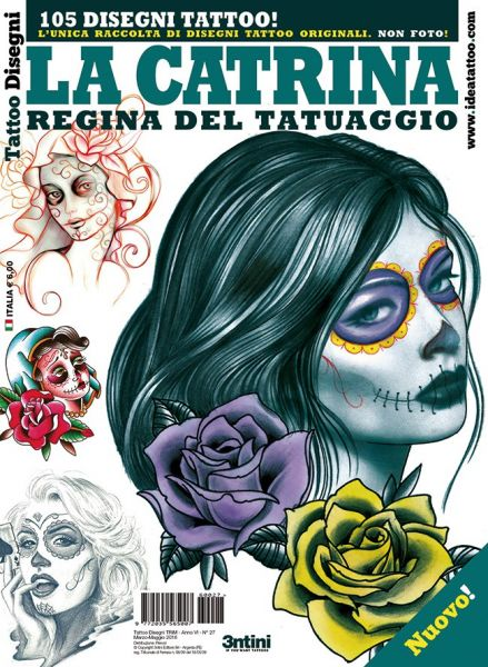 La Catrina Tattoo Flash Book