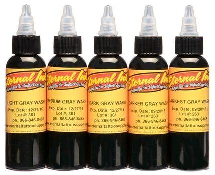 Eternal Ink Greywash Set 5 Flaschen