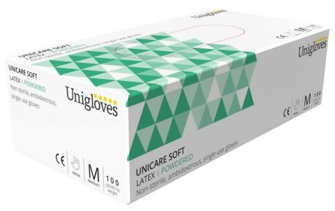 Unigloves Unicare Latex Gloves