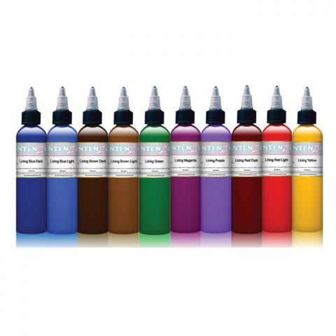 Intenze Ink Sets - Colour Outline Set x 10 Inks