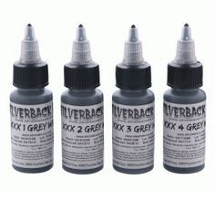 Silverback Ink® XXX Series - 1oz X 4 - Grey Wash Set