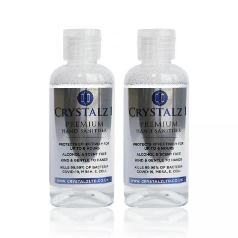 Crystalz Hand Sanitiser 2 x 100ml Refill