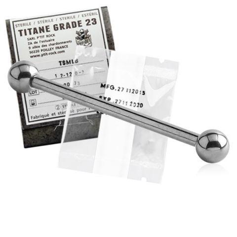 Titanium Micro Straight Barbell Sterile