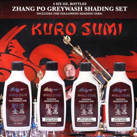 Kuro Sumi 180ml/6oz Zhang Po Shading Set