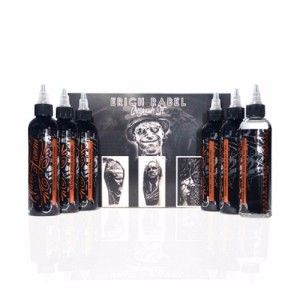 Erich Rabel Shading 6 Bottle Set World Famous Ink - 4oz