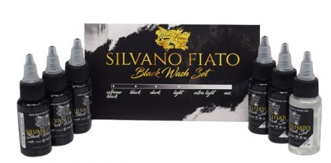 Silvano Fiato Black 6 Bottle Set World Famous Ink - 1oz