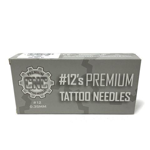 Agujas CNC 12 Premium Redonda de sombra - Long Taper