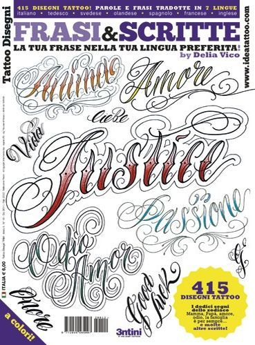 Lettering and Script Tattoo Flash Book