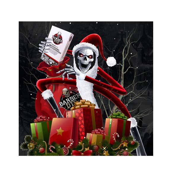 Nuestra calavera claus se levanta de su tumba por navidad