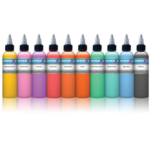 Intenze Ink Sets - Colour Pastel Set x 10 Inks
