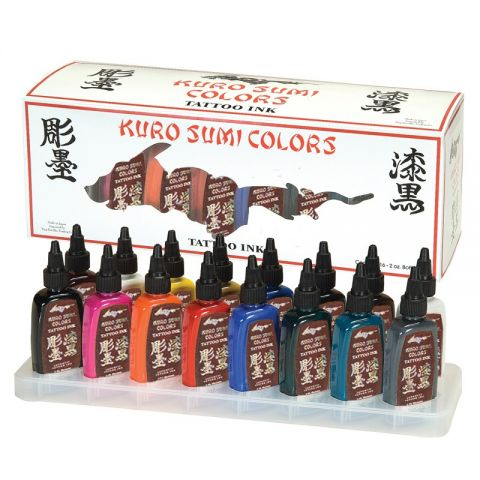 Kuro Sumi 16 Colour 1/2oz Set Primary Kit 1