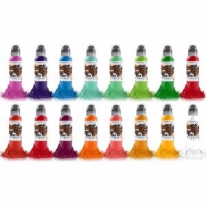 Master Mike Asian 16 Bottle Set World Famous Ink - 1oz