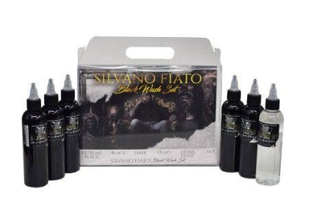 Silvano Fiato Black 6 Bottle Set World Famous Ink - 4oz
