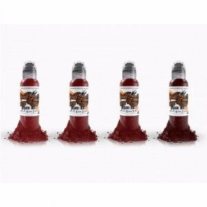 Joel's Bloodworks 4 Bottle Set World Famous Ink - 1oz