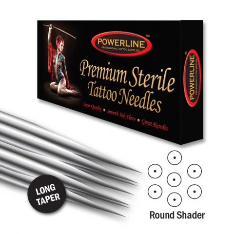 Powerline 12 Original Round Shader Needle - Long Taper