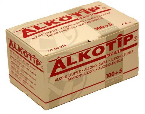 Lingettes désinfectantes Alkotip 3cm x 3cm (100)