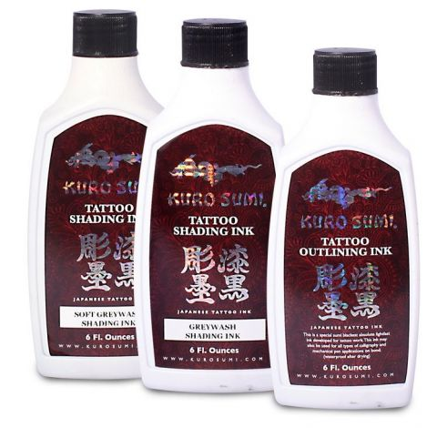 Kuro Sumi - Set de 3 Flacons Lining/Shading/Soft Shading - 6oz (180ml)