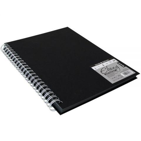 Black Hard Back Spiral Sketch Book A4 40 shee