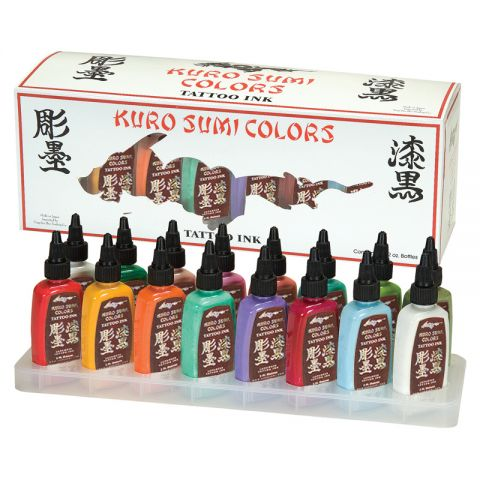 KURO SUMI SET PRIMAIRE 16 COULEURS 30ML - KIT 4