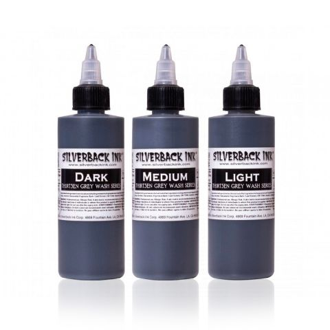 Silverback Ink® Black Th1rt3en Greywash (120ml/4oz)