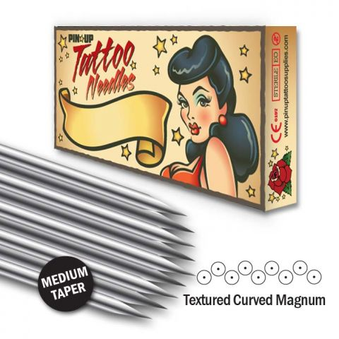 Textured Curved Magnum Needle - Medium Taper