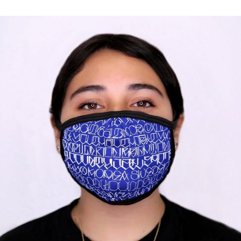 Big Sleeps Face Mask - Royal Blue