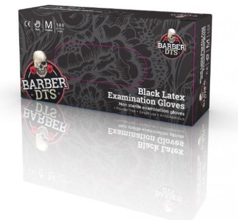 Barber DTS Black Latex Powder Free Gloves