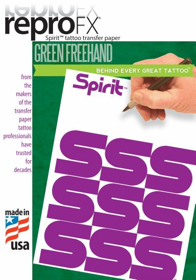 "Spirit Green 11"""" Freehand Paper"