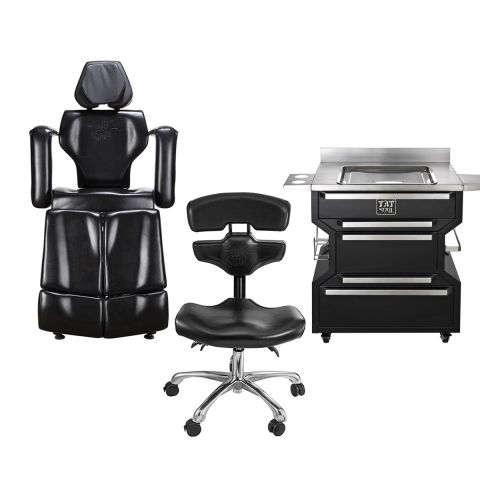 TATSoul Black Client / Mako Chair & Base Workstation Package Deal
