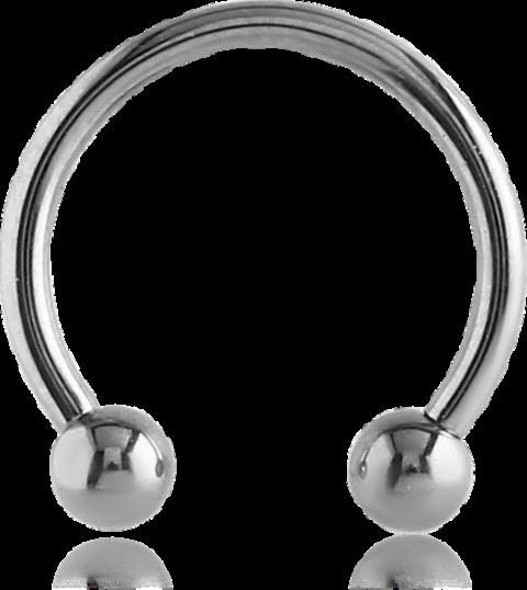 Titanium Micro Circular Barbell & Ball