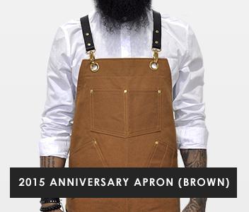2015 Anniversary Apron - Brown