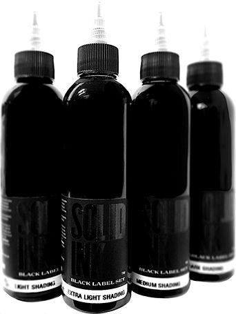 Solid Ink 1oz Black Label G/Wash Set (4)