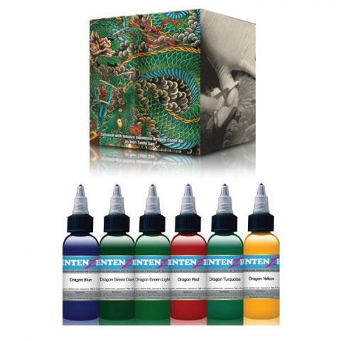 Intenze Ink Sets - Dragon Colour Set x 6 Inks