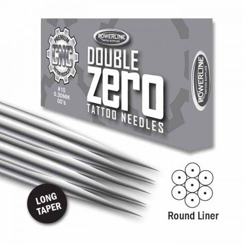 CNC 10 Double Zero Round Liner naalden - Long Taper