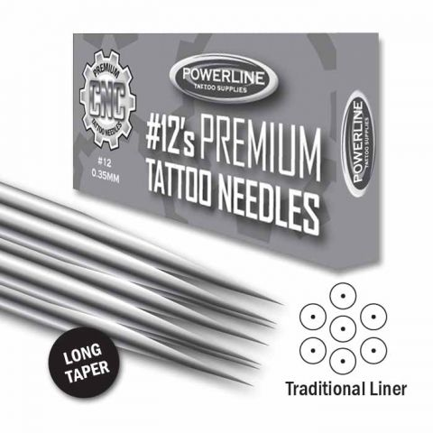 CNC 12 Premium traditionale lijner naalden- Long Taper