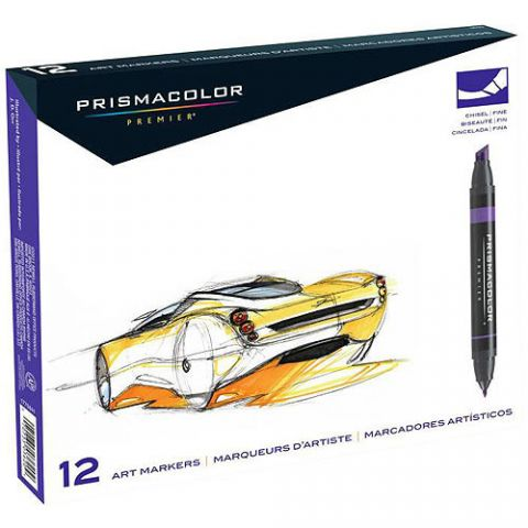 Prismacolor Chisel Art Markers - 12 Pack Primary