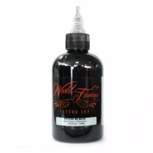 World Famous Ink 4oz Pitch Black
