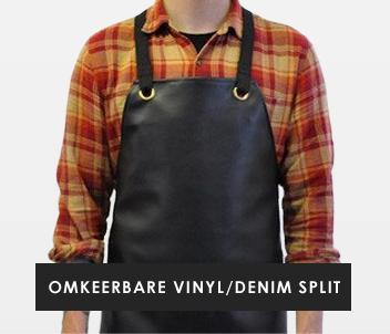 Reversible Vinyl/Denim Split