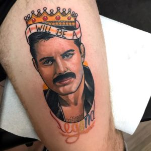 Freddie Mercury by gibbo as part of the barber dts pro team