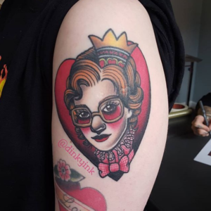 Queen of Hearts Barb Stranger Things Tattoo