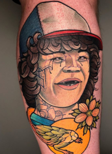 Neo Traditional Stranger Things Tattoo Dustin & Eleven