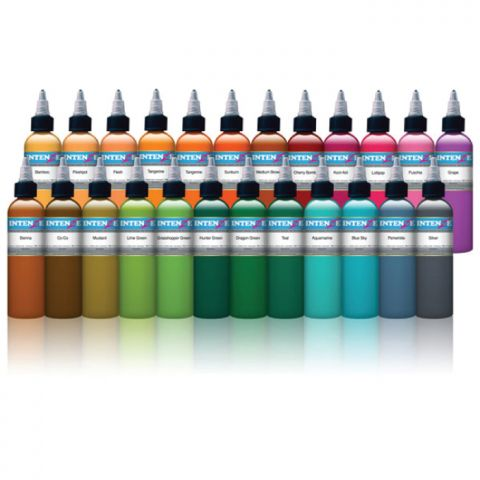 Intenze Ink Sets - New Colour Set x 25 Inks