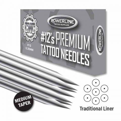 CNC 12 Premium Traditional Liner Needle - Medium Taper