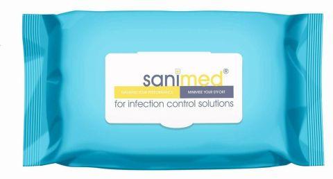 Sanimed SaniSafe 70% IPA (Isopropyl Alcohol) Wet Wipes